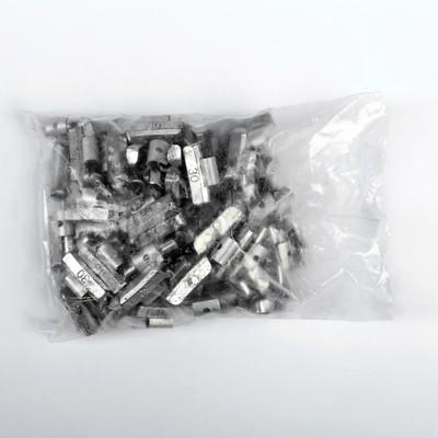 Грузики набивные свинцовые, для литых дисков, 30 г, набор 100 шт.