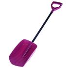 Лопата автомобильная пластиковая, ковш 280 × 190 мм, длина 80 см, без планки, с ручкой, розовая