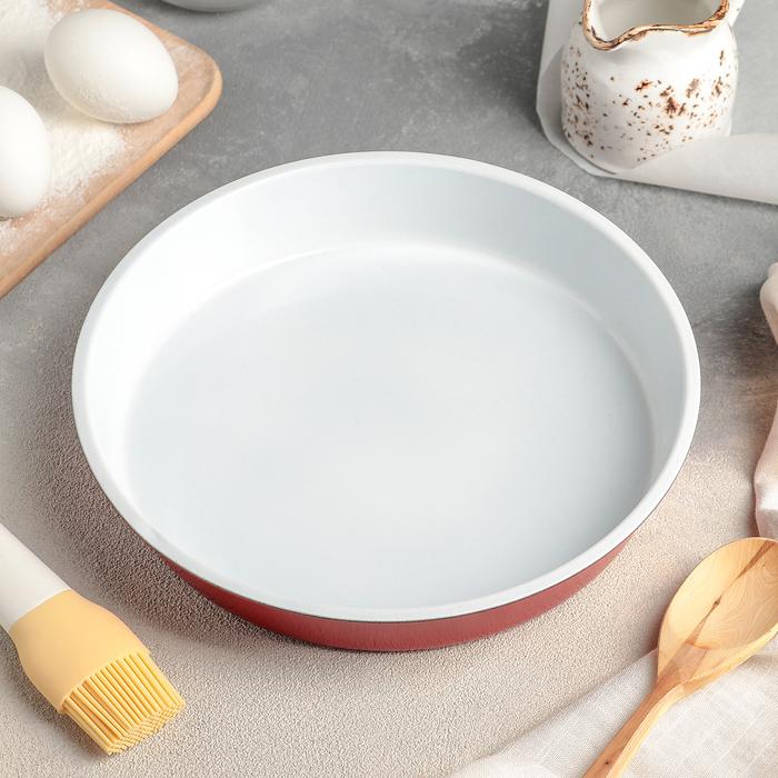 """Форма для выпечки с керамическим покрытием """"Флёри. Круг"""" 24х4 см, цвет МИКС"""