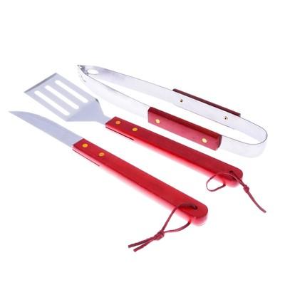 Набор для барбекю: лопатка, щипцы, нож
