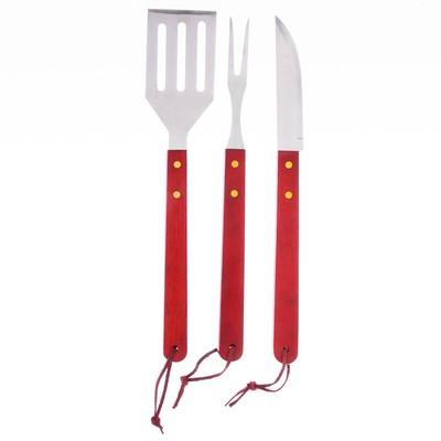 Набор для барбекю: нож, лопатка, вилка