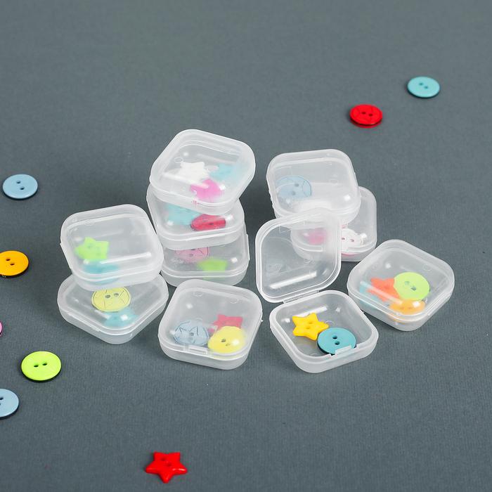 Контейнеры для хранения мелочей, 3 × 3 × 1,5 см, 10 шт