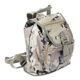 Сумка-рюкзак походная военного цвета 34*26см Ош