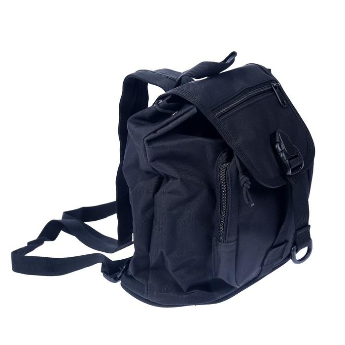 Сумка-рюкзак черного цвета 34*26см