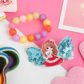 "Children set ""Vibracula"" 2 items: barrette, bracelet, girl with the puppy, MIX color"