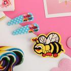 """Набор детский """"Выбражулька"""" 3 пред-та: 2 заколки, брошь, пчелка, цвет МИКС"""