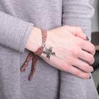 """Браслет ассорти """"Любовь"""" бабочка, цвет коричневый в чернёном серебре"""