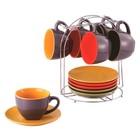 Чайный набор Wellberg Glamour, чашки 220 мл, блюдца