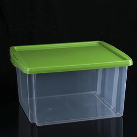 Контейнер для хранения с крышкой 30 л, 47×36,5×24,5 см, цвет МИКС
