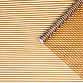 """Film for flower and gift matte """"Stripes"""" gold 0.6 x 8.2 m 35 µm"""