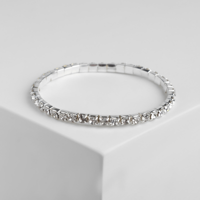 "Bracelet with rhinestone ""Ice"" number 1, color white, 4 mm"