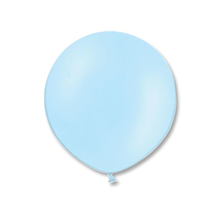 """Шар латексный 24"""" экстра, пастель, цвет светло-голубой"""