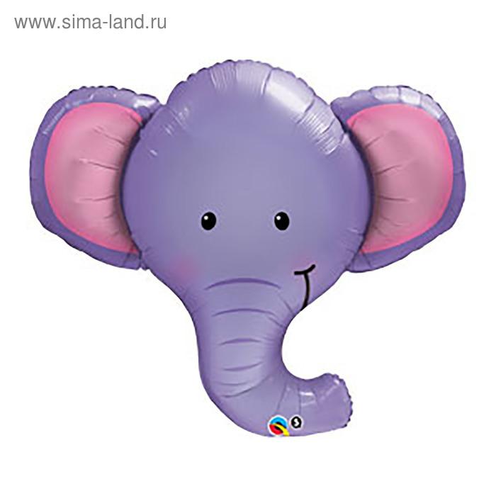 """Шар фольгированный 36"""" """"Голова слонёнка"""""""