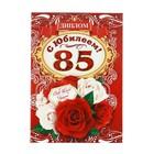 Диплом «С юбилеем 85 лет!»