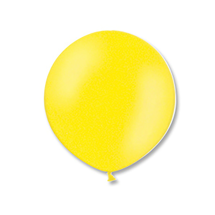 """Шар латексный 24"""", экстра, кристалл, цвет жёлтый - фото 236889595"""