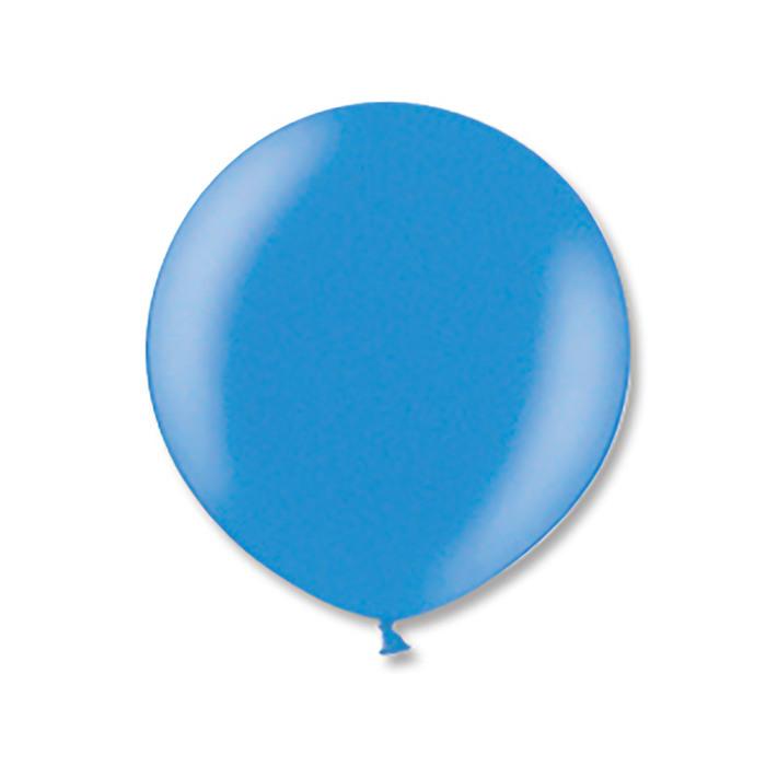 """Шар латексный 24"""" экстра, металл, цвет голубой"""