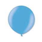 """Шар латексный 24"""" экстра, металл, цвет светло-голубой"""