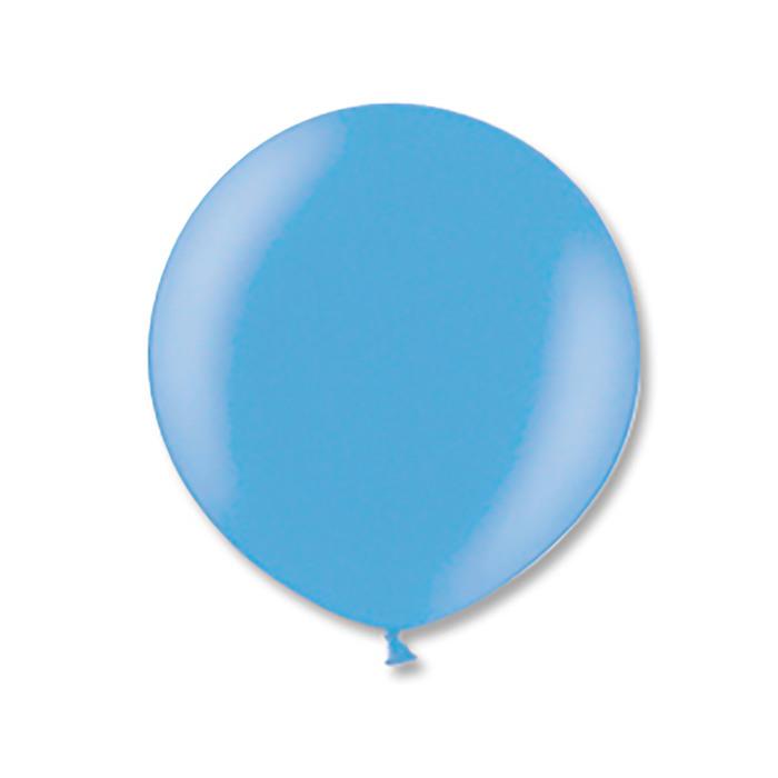 """Шар латексный 24"""" экстра, металл, цвет светло-голубой - фото 201147835"""