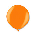 """Шар латексный 24"""" экстра, металл, цвет оранжевый"""