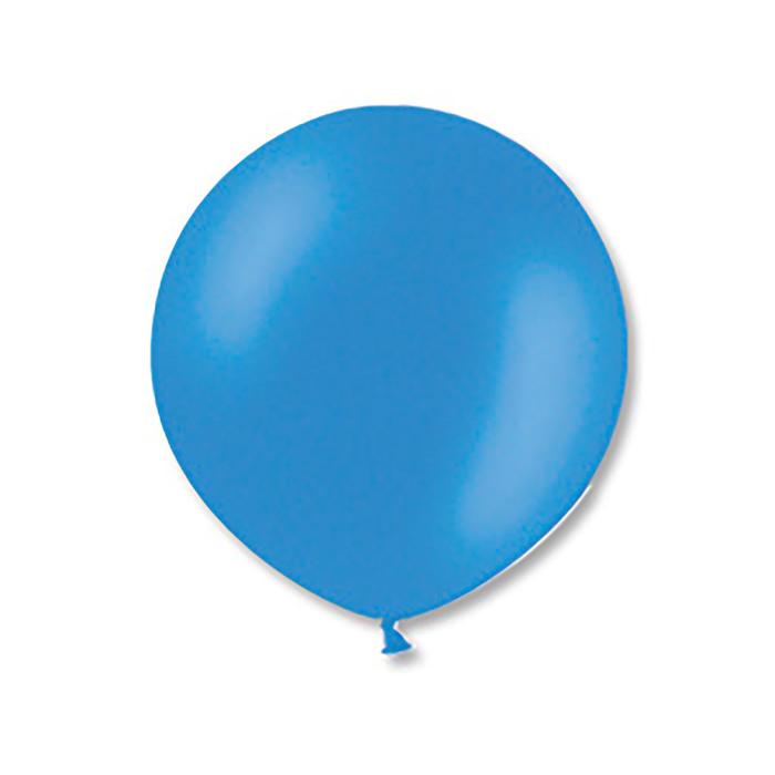 """Шар латексный 36"""" экстра, пастель, цвет голубой"""