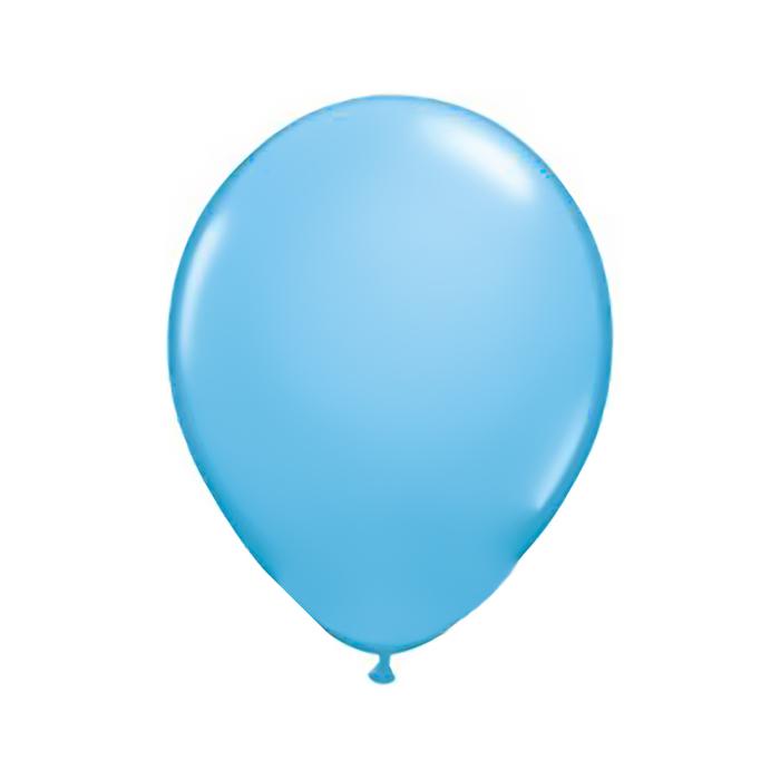 """Шар латексный 11"""", пастель, набор 100 шт., цвет светло-голубой - фото 248317686"""