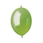 """Шар латексный 6"""", линколун, пастель, набор 100 шт., цвет зелёный"""