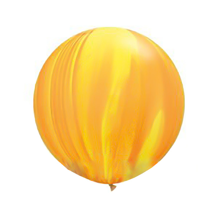 """Шар латексный 30"""" """"Суперагат"""", цвет жёлтый/оранжевый - фото 308469224"""
