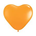 """Шар латексный 6"""" """"Сердце"""", пастель, набор 100 шт., цвет оранжевый - фото 233184647"""