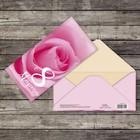 Конверт для денег «8 марта», нежная роза, 16,5 х 8 см