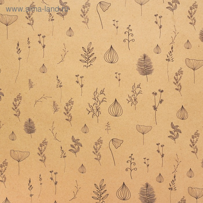 Бумага крафт «Ботаника», 50 х 70 см