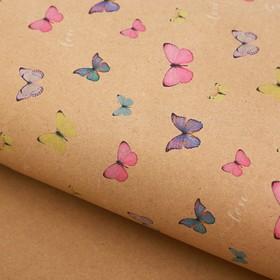 Бумага крафт «Воздушные бабочки», 50 х 70 см в Донецке