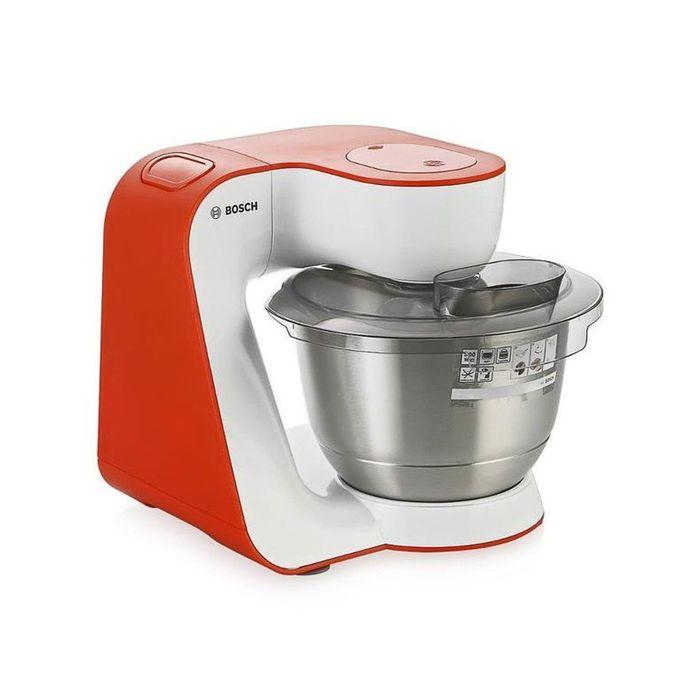 Кухонный комбайн Bosch MUM54I00, 900 Вт, белый/оранжевый