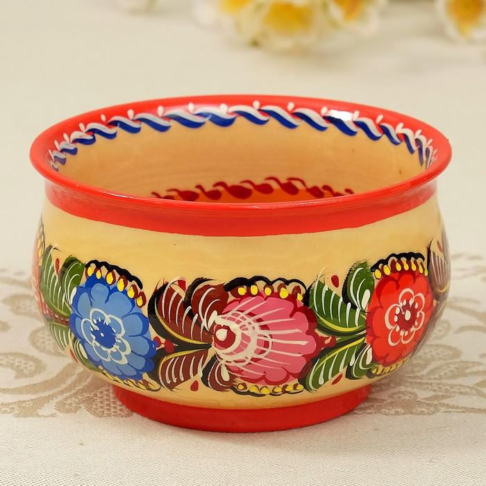 Чашка «Цветы», зелёная, 7х13 см