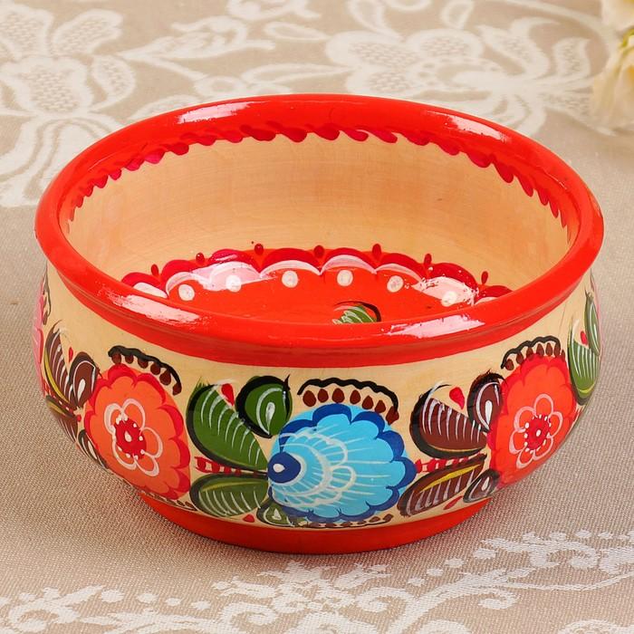 Чашка «Цветы», розовая, 7х13 см