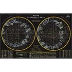 Карта Звездного неба, 90*57см, со светящимися созвездиями в темноте, тубус ОСH1234302