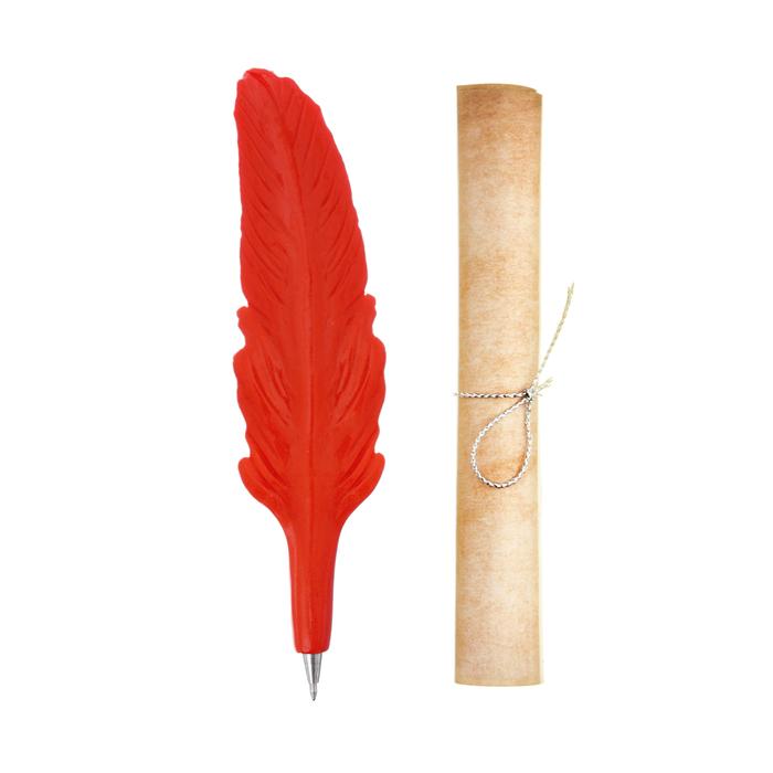 """Фигурная ручка """"Учителю математики"""" со свитком"""