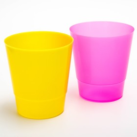A glass of 200 ml, children, color MIX