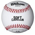 Мяч для бейсбола Wilson Soft Compression, цвет белый