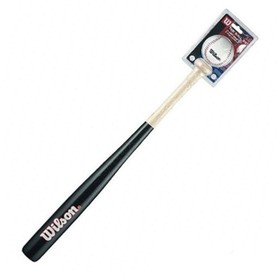 "Набор для бейсбола Wilson Tee Ball Kit, бита 24"", бейсбольная бита, мяч, блистер"