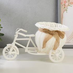 """Корзина декоративная """"Эко-лайф"""" велосипед с вазочкой 12,5х21,5х12 см"""