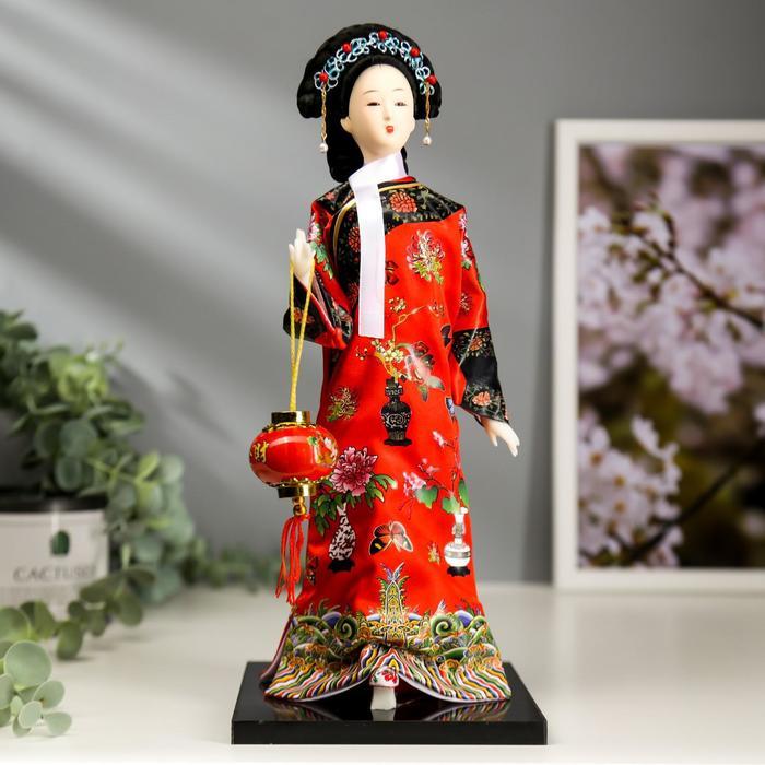 """Кукла коллекционная """"Китаянка в национальном платье с фонариком"""" 28х12,5х12,5 см"""