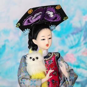 """Кукла коллекционная """"Китаянка в национальном платье с собакой"""" 32х12,5х12,5 см - фото 2218216"""