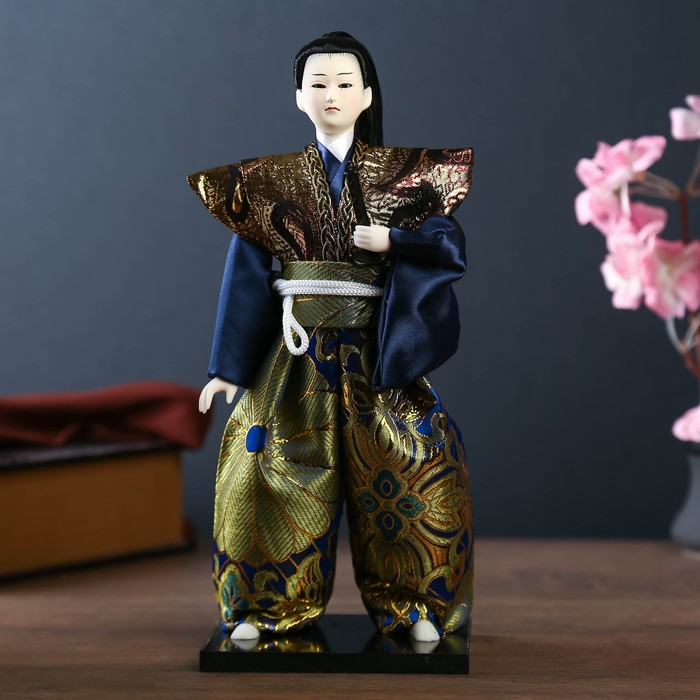 "Кукла коллекционная ""Самурай с мечом"" 30х12,5х12,5 см"