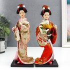 "Collectible doll ""Geisha with a fan"" 27х12,5x12,5 cm"