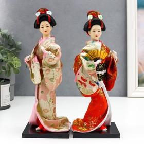 Кукла коллекционная 'Гейша с веером' 27х12,5х12,5 см Ош