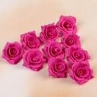 Набор цветов для декора из фоамирана, D=3 см, 10 шт, малиновый