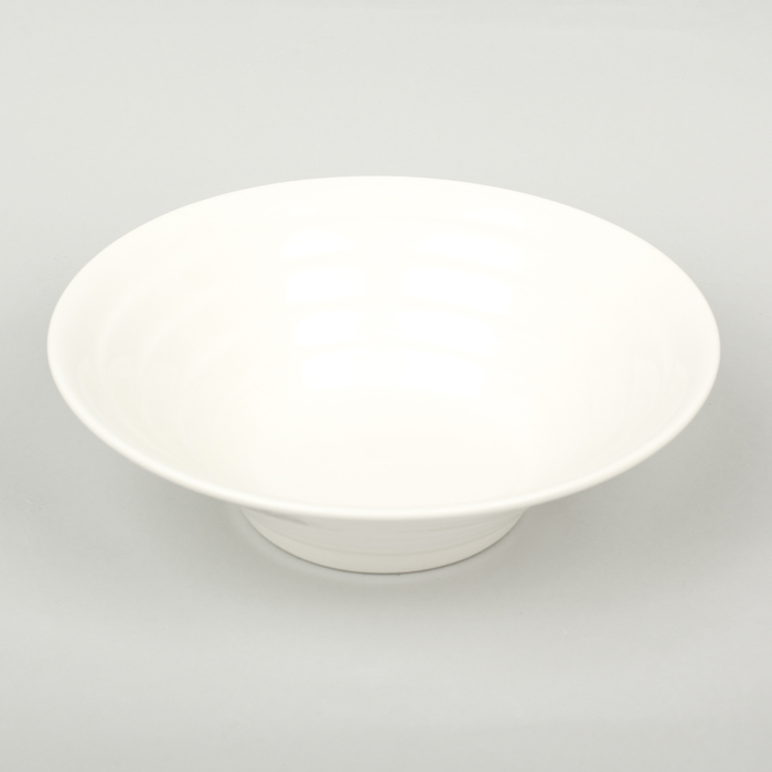 Миска коническая «White Label», 20×6 см, цвет белый - фото 308067791
