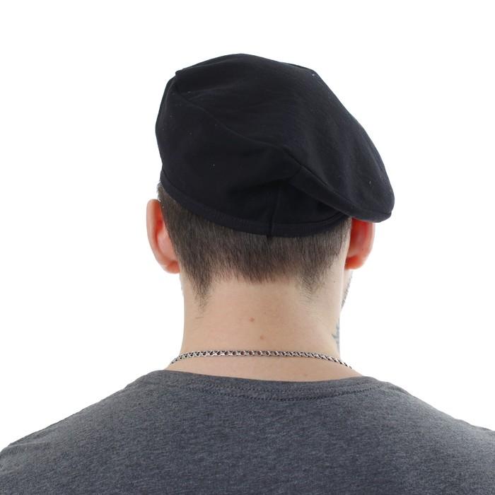 Берет чёрный, металлическая кокарда со звездой, обхват головы 54-57 см