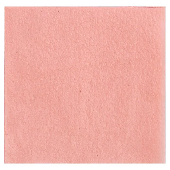 Салфетка цветная, розовая, 24х24, 50 листов