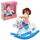 """Кукла-малышка """"Алина на лошадке"""" с игрушкой, МИКС"""